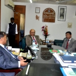Courtesy Call on of Director, AIBA, Sylhet with Vice Chancellor of SUST