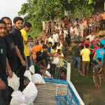 Fund collection and distribution of relief to flood affected people of Sunamganj